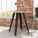 bar height table with black angled legs